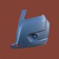 Боковина переднего бампера левая для ГАЗель Next